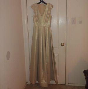 Gold Halston dress